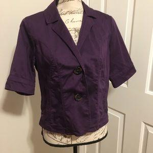 Coldwater creek purple short sleeve jacket sz P10